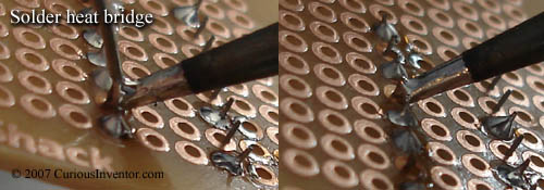 Solder heat bridge