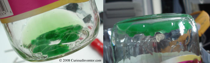 Dissolving acrylic in acetone