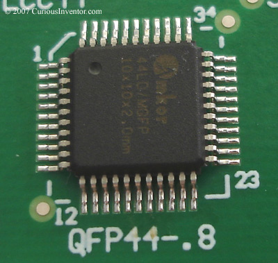 A finished QFP chip