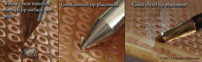 Tip placement