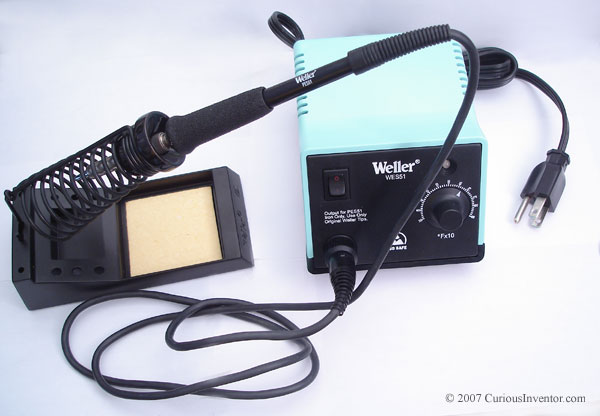 our recommended soldering station: Weller WES51 (50 Watts, temperature controlled)